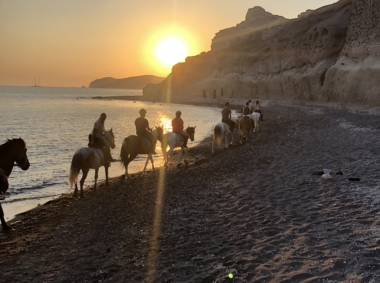 Santorini Sunset Horse Riding