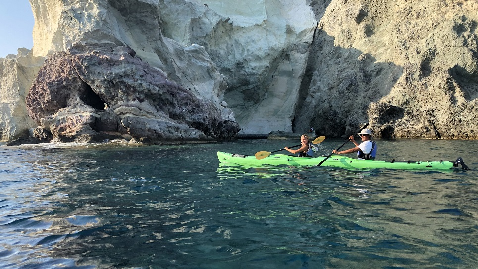 Kayaking in Santorini